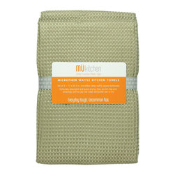 MU Kitchen Pebble Microfiber Waffle Dish Towel - The beautiful MU kitchen waffle microfiber dish towel set is made from a revolutionary microfiber  a specially designed cloth that is woven in a unique pattern from polyester fibers that create tiny scoops that suck up dirt and attract micro-particles. Microfiber is softer than silk and stronger than cotton. The cloth is so well crafted  it renders harsh cleaning chemicals entirely unnecessary.Product Features                      Set of 2 - 17 x 25 in. towels          Waffle microfiber          Extremely absorbent and quick drying          Lint free and amazingly soft          Clean and polish wet or dry          Reduces bacteria growth with quick drying time          Finished with a hanging loop for convenience