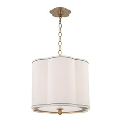 Hudson Valley Lighting - Hudson Valley Lighting 7915-AGB Sweeny 3 Light Pendant, Aged Brass - This 3 light Pendant from the Sweeny collection by Hudson Valley Lighting will enhance your home with a perfect mix of form and function. The features include a Aged Brass finish applied by experts. This item qualifies for free shipping!