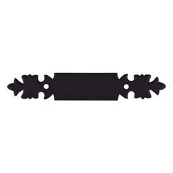 Top Knobs - Top Knobs: Pull Backplate 3 Inch (C-C) - Patina Black - Top Knobs: Pull Backplate 3 Inch (C-C) - Patina Black