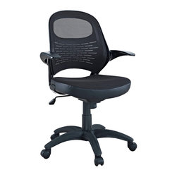 Modway - Modway EEI-788 Candid Office Chair in Black - Let fresh and innovative ideas pour forth. The Candid chair functions as a spontaneous and unrehearsed addition to your work environment. With a contoured padded mesh seat, ergonomic mesh back, and easy flip up arms, take flight to more natural and independent modes of creative speech.