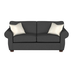 Stanton - 154 Full Sleeper, Sonoma Charcoal, Stanton Standard Mattress - The 154 Full Sleeper by Stanton is now on sale, starting at $1124.  Rolled arms on this studio sofa bed provide full-scale style in a compact package.