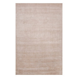 Jaipur Rugs - Solids/Handloom Solid Pattern Bamboo Silk Ivory/White Area Rug (5 x 8) - A beautifully colored collection of solids hand loomed from bamboo silk. The combination of an all pile construction with the luxurious yarn gives a luxurious plush handle and as the name of the collection suggests a lustrous sheen. The look is elegant and sophisticated.
