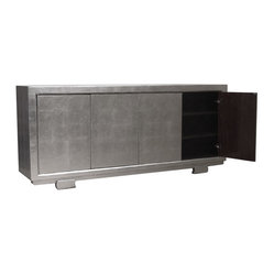 Isadora Silver 4 Door Tall Sideboard