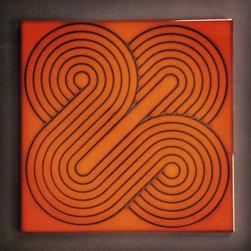 "KISMET CERAMIC TILE: FORTUNE pattern, JULIUS glaze - KISMET FORTUNE pattern tile in JULIUS glaze.  8"" x 8""."