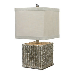 Sterling - Sterling 112-1119 Silver Bamboo Square Bamboo Table Lamp By Sterling - Dimond Lighting 112-1119 Table Lamp