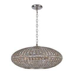 Crystorama - Crystorama 347-SA Solstice 6 Light Chandeliers in Antique Silver - Lighting is often described as jewelry for the home. Crystorama makes good on the metaphor with its newest collection of chandeliers. We have taken the warm glow in the golden square crystal shade and placed it inside the antique silver metal work, creating a sophisticated illuminating decor.