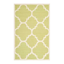 Safavieh - Cora Hand Tufted Rug, Green / Ivory 3' X 5' - Construction Method: Hand Tufted. Country of Origin: India. Care Instructions: Vacuum Regularly To Prevent Dust And Crumbs From Settling Into The Roots Of The Fibers. Avoid Direct And Continuous Exposure To Sunlight. Use Rug Protectors Under The Legs Of Heavy Furniture To Avoid Flattening Piles. Do Not Pull Loose Ends; Clip Them With Scissors To Remove. Turn Carpet Occasionally To Equalize Wear. Remove Spills Immediately. Bring classic style to your bedroom, living room, or home office with a richly-dimensional Safavieh Cambridge Rug. Artfully hand-tufted, these plush wool area rugs are crafted with plush and loop textures to highlight timeless motifs updated for today's homes in fashion colors.