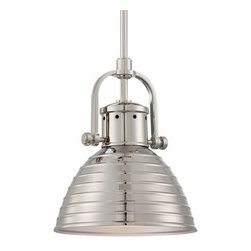Minka-Lavery - One-Light Pendant in Polished Nickel with Metal Shade - - One-Light Polished Nickel Pendant  - Adjustable Height to 55H Max.  - Shade Material: Metal  - Bulbs Not Included Minka-Lavery - 2246-613
