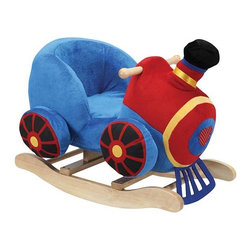 "Fifthroom - Plush Train Rocker - Your little engineers will be ""riding the rails"" in their own little plush seat.  Realistic train noises will make this rocker Thomas' best friend."
