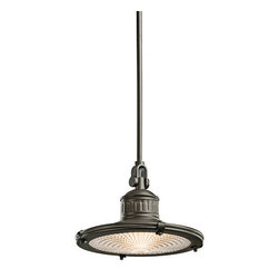 Kichler - Kichler 42437OZ Sayre Single-Bulb Indoor Pendant with Cone-Shaped Metal Shade - Product Features: