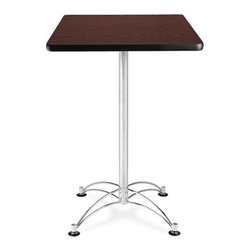 OFM - OFM 24 Square Cafe Height Table - Chrome Base - This 24 square table looks elegant in both lunch and meeting rooms and looks great with the model 310 stack chairs. The banding makes the edges smooth and gives it a finished appearance. The honeycomb core makes the table both lightweight and sturdy.