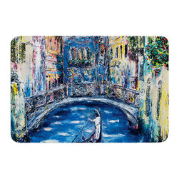 """KESS InHouse - Josh Serafin """"Venice"""" Travel Italy Memory Foam Bath Mat (17"""" x 24"""") - These super absorbent bath mats will add comfort and style to your bathroom. These memory foam mats will feel like you are in a spa every time you step out of the shower. Available in two sizes, 17"""" x 24"""" and 24"""" x 36"""", with a .5"""" thickness and non skid backing, these will fit every style of bathroom. Add comfort like never before in front of your vanity, sink, bathtub, shower or even laundry room. Machine wash cold, gentle cycle, tumble dry low or lay flat to dry. Printed on single side."""