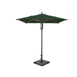 Greencorner - 6.5'x6.5' Mahogany Umbrella, Forest Green - 6.5'x6.5' Square
