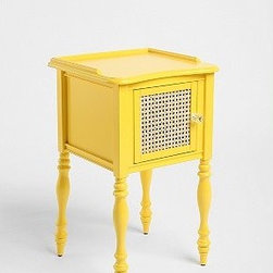 GiGi Nightstand - Love this bright sunshine-yellow simple nightstand. It's a smaller piece but it definitely stands out.