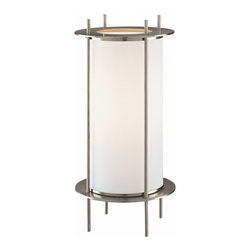 Essential Lighting for the Home Office - This contemporary table lamp adds soft subtle lighting where you need it.