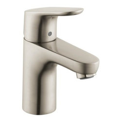 Hansgrohe - Hansgrohe 04371820 Brushed Nickel Focus Focus Bathroom Faucet Single - Features:All brass faucet body and handle constructionFully covered under Hansgrohe s limited lifetime warrantyHansgrohe faucets are designed and engineered in GermanySuperior finishing process - finishes will resist corrosion and tarnishing through everyday useSingle lever handle operationADA compliant- complies with the standards set forth by the Americans with Disabilities Act for bathroom faucetsLow lead compliant- meeting federal and state regulations for lead contentDesigned for use with standard U.S. plumbing connectionsAll hardware needed for mounting is included with faucetIncludes metal pop-up drain assemblyProduct Technologies / Benefits: EcoRight: With the addition of a special flow limitation system these faucets by Hansgrohe reduce water consumption by up to 60%. While conventional bathroom mixing faucets will use up to 3- 1/2 gallons-per-minute, EcoRight faucets reduce that need to around 1- 1/2 GPM. The EcoRight aerator is integrated into the spout of the faucet enriching the water with air; the result is a full, bubbling jet of water, making conservation simple with virtually no sacrifice.QuickClean: Calcareous water, dirt, cleaning agents; faucets and showers have to be able to withstand a lot. QuickClean technology gives you the power to make residues disappear in an instant. With the silicon nozzles Hansgrohe has fitted to its faucet aerators and shower jets, dirt and limescale can be rubbed off with ease. This innovation adds infinite value, as products that are well maintained and limescale free remain functional and last longer.ComfortZone Faucet:  These tall, expansive faucets provide an extra-comfortable hand washing experience. Ceramic cartridges offer smooth, noise-free operation, while a linear flow diagram provides pl