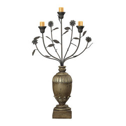 Sterling Industries - Sterling Industries 93-9142 Floral Display Style Candle Holder - Specifications: