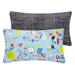 Typography Cats and Dogs Throw Pillow for Children l Chloe & Olive - Chloe & Olive