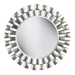 Gilbert Wall Mirror - 24 diam. in. - Elegant and bold design embodies the Gilbert Wall Mirror. This mirror features a textured silver finish frame surrounding a large round mirror providing eye catching contrast. There are two mounting brackets on the backside for a secure hold so your style will hold tight wherever you choose to display it.About Kenroy HomeEmployee-owned Kenroy Home creates a large range of lighting and home decor products. Having recently purchased Hunter Lighting Group Kenroy Home is now positioned to expand their product lines and take their customer focus to the next level. With an experienced team and advanced equipment Kenroy Home provides an unparalleled spectrum of products and services. Trained designers and technicians create functional works of art that exceed appearance and performance expectations. Their craftsmanship matches materials and finishes to each application for showroom quality at superior values. Product collections are designed to facilitate mix-and-match coordination.