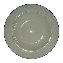 Lenox - Lenox Courtyard Platinum  Rim Soup Bowl - Lenox Courtyard Platinum  Rim Soup Bowl