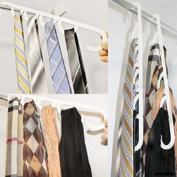 Lift N Find - demonstration of our tie-scarf hanger rack.