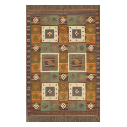 Rugsville - Rugsville Rug Southwestern 13685-46 Brown - There are some abstract patterns that will go well along your modern home decor. You may even want to get some of these carpets for your living room and spacious places. There are different choices in colors, sizes and shapes as well. 100% Natural wooland Jute. Extremely durable for high traffic areas. Meticulously woven flat-weave rug handmade in India. Made by skilled artisans in the villages of North Central India with careful attention given to the pattern detailing.