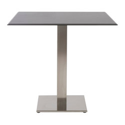 "Eurostyle - Tiffany Table Base H29"" - Satin - Stainless or epoxy coated steel column"