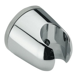 Remer - Wall-Mounted Shower Bracket Made in a Chrome Finish - This rounded shower bracket was made in Italy by designer Remer.