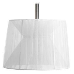 "Progress Lighting - Progress Lighting P8928-01 Fabric Shade (9"") Chiffon Fabric Shade - Fabric Shade"