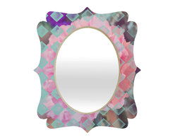 DENY Designs - Maybe Sparrow Photography Floral Diamonds Quatrefoil Mirror - Mirror, mirror on the wall. Who's the fairest one of all? We'll that's easy, the quatrefoil mirror collection, of course! With a sleek mix of baltic birch ply trim that's unique to each piece and a glossy aluminum frame, the rectangular mirror makes you feel oh so pretty every time you catch a glimpse. Custom made in the USA for every order.