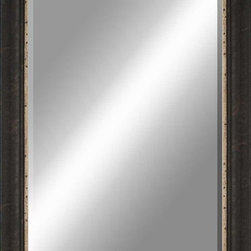 Paragon Decor - Beveled Mirror, Clouded Dark Wood, 30x40 - Mirror, Mirror, on the wall, who's the most beautiful mirror of them all? Reflect your impeccable taste with this traditional-style mirror, which features a gorgeous clouded dark wood frame and high-quality interior beveled mirror. This piece measures 36 inches wide, 1 inch deep, and 46 inches high.