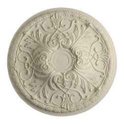 uDecor - MD-9088 Ceiling Medallion - Ceiling medallions and domes are manufactured with a dense architectural polyurethane compound (not Styrofoam) that allows it to be semi-flexible and 100% waterproof. This material is delivered pre-primed for paint. It is installed with architectural adhesive and/or finish nails. It can also be finished with caulk, spackle and your choice of paint, just like wood or MDF. A major advantage of polyurethane is that it will not expand, constrict or warp over time with changes in temperature or humidity. It's safe to install in rooms with the presence of moisture like bathrooms and kitchens. This product will not encourage the growth of mold or mildew, and it will never rot.