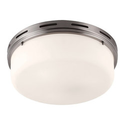 Murray Feiss - Manning 3-lt Flushmount - The Manning Collection of flushmounts features a deep, broad shade surrounded by a nautically-inspired ring with an open slot detail. Available in three sizes and four finishes.