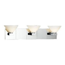 Matria Three Light Polished Chrome PLC Bath Fixture -