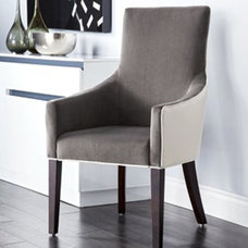 Contemporary Dining Chairs Vincent Fabric Arm Chair