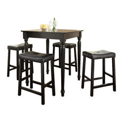 5-Piece Pub Dining Set, Turned Leg