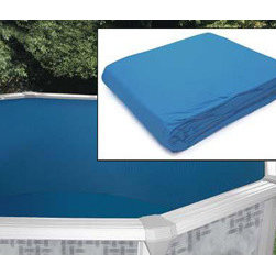 "Heritage - 24' x 12' Oval Pool Liner - Replacement pool liners for above ground pools. All weather vinyl with lap welded seams for greater strength. Fits depths of 48"" and 52""."