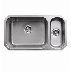 Whitehaus - Whitehaus Whndbu3118Gdr Noah's Bowl Sink - Double bowl undermount disposal sink