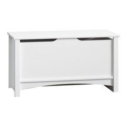 Child Craft - Shoal Creek 35 in. Storage Chest - White - This versatile piece is a great place to store toys or extra bedding. Storage chest has hinge that locks into place when open for added safety. Storage chest features patented T-lock assembly system. Storage chest is constructed from medium density fiberboard and particle board with laminate. CARB Compliant. Product is accented with solid wood detailing. Features quick and easy assembly with included instructions and hardware. 18.9 in. H X 15.5 in. L X 35.3 in. W (47 lbs.). 5 year warranty for defects in materialsShoal Creek Storage Chest is a lovely addition to your Shoal Creek collection.  Made for Child Craft by Sauder Woodworking, Inc.