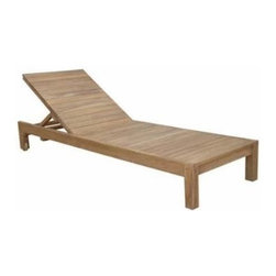 Anderson Teak - South Bay Sun Lounger - South Bay Sun Lounger is made of premium kiln dried solid teakwood which is very durable and excellent for outdoor furniture. Well designed with wide-slats, mortise-tendon joinery and teak wheels for easy moving. A Perfect poolside furniture for reading, relax or sun bedding. This Sun Lounger adjusts to four different positions, including completely flat. Add South Bay Side Table for putting your sun lotion or a glass of orange juice. For more comfort add Sunbrella fabric cushion of your color choice. Your pool will not be perfect without the sun lounger. Enjoy sun-bathing with friends or family in a nice beautiful South Bay sun lounger. Cushion is optional.