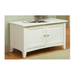 Alaterre Furniture - Shaker Cottage Storage Bench - Storage bench with 2 doors. Made of composite wood. Assembly required. 1-Year warranty. 36 in. W x 18 in. D x 20 in. HThis Bench can be used in the mud room with the Coat Hook Storage or a simple bench under a window. A very nice accent in any Lifestyle setting. This unit is easy to assemble and sturdy. Features 2 enclosed storage areas with doors. It's a very nice Bench to sit and put on or remove your shoes.