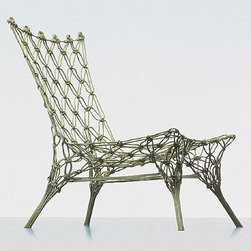 Cappellini Knotted Chair By Marcel Wanders - Macramé  is totally cool again because this funky knotted lounge chair. Just don't bust out the spider plants yet. Too soon...Too soon.
