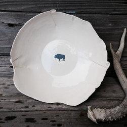 North American Bison Serving Platter -