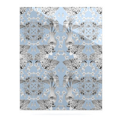 """Kess InHouse - DLKG Design """"Versailles Blue"""" Metal Luxe Panel (24"""" x 36"""") - Our luxe KESS InHouse art panels are the perfect addition to your super fab living room, dining room, bedroom or bathroom. Heck, we have customers that have them in their sunrooms. These items are the art equivalent to flat screens. They offer a bright splash of color in a sleek and elegant way. They are available in square and rectangle sizes. Comes with a shadow mount for an even sleeker finish. By infusing the dyes of the artwork directly onto specially coated metal panels, the artwork is extremely durable and will showcase the exceptional detail. Use them together to make large art installations or showcase them individually. Our KESS InHouse Art Panels will jump off your walls. We can't wait to see what our interior design savvy clients will come up with next."""