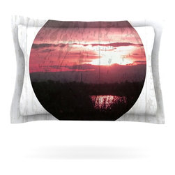 """Kess InHouse - Micah Sager """"Valley"""" Sunset Splatter Pillow Sham (Cotton, 40"""" x 20"""") - Pairing your already chic duvet cover with playful pillow shams is the perfect way to tie your bedroom together. There are endless possibilities to feed your artistic palette with these imaginative pillow shams. It will looks so elegant you won't want ruin the masterpiece you have created when you go to bed. Not only are these pillow shams nice to look at they are also made from a high quality cotton blend. They are so soft that they will elevate your sleep up to level that is beyond Cloud 9. We always print our goods with the highest quality printing process in order to maintain the integrity of the art that you are adeptly displaying. This means that you won't have to worry about your art fading or your sham loosing it's freshness."""
