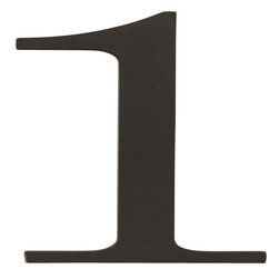 Atlas Homewares - Atlas Homewares Trn1-Bl Traditionalist 6-Inch House Number One, Black - Atlas Homewares Trn1-Bl Traditionalist 6-Inch House Number One, Black