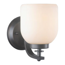 World Imports - Kelly 1-Light Wall Sconce, Oil Rubbed Bronze - All metal construction with a bronze finish