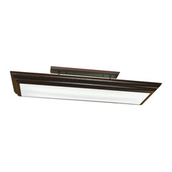 Kichler - Kichler Chella Overhead Linear Fluorescent Light Fixture in Olde Bronze - Shown in picture: Kichler Linear Ceiling Mt 4Lt Fluoresc in Olde Bronze