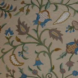 Crewel Fabric World by MDS - Crewel Fabric Acorn Butternut Cotton Duck- Yardage - Inspiration: Floral is a pattern inspired by the flowers of spring