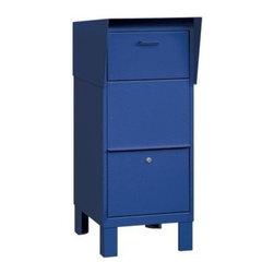 Salsbury Industries - Courier Box - Blue - Courier Box - Blue